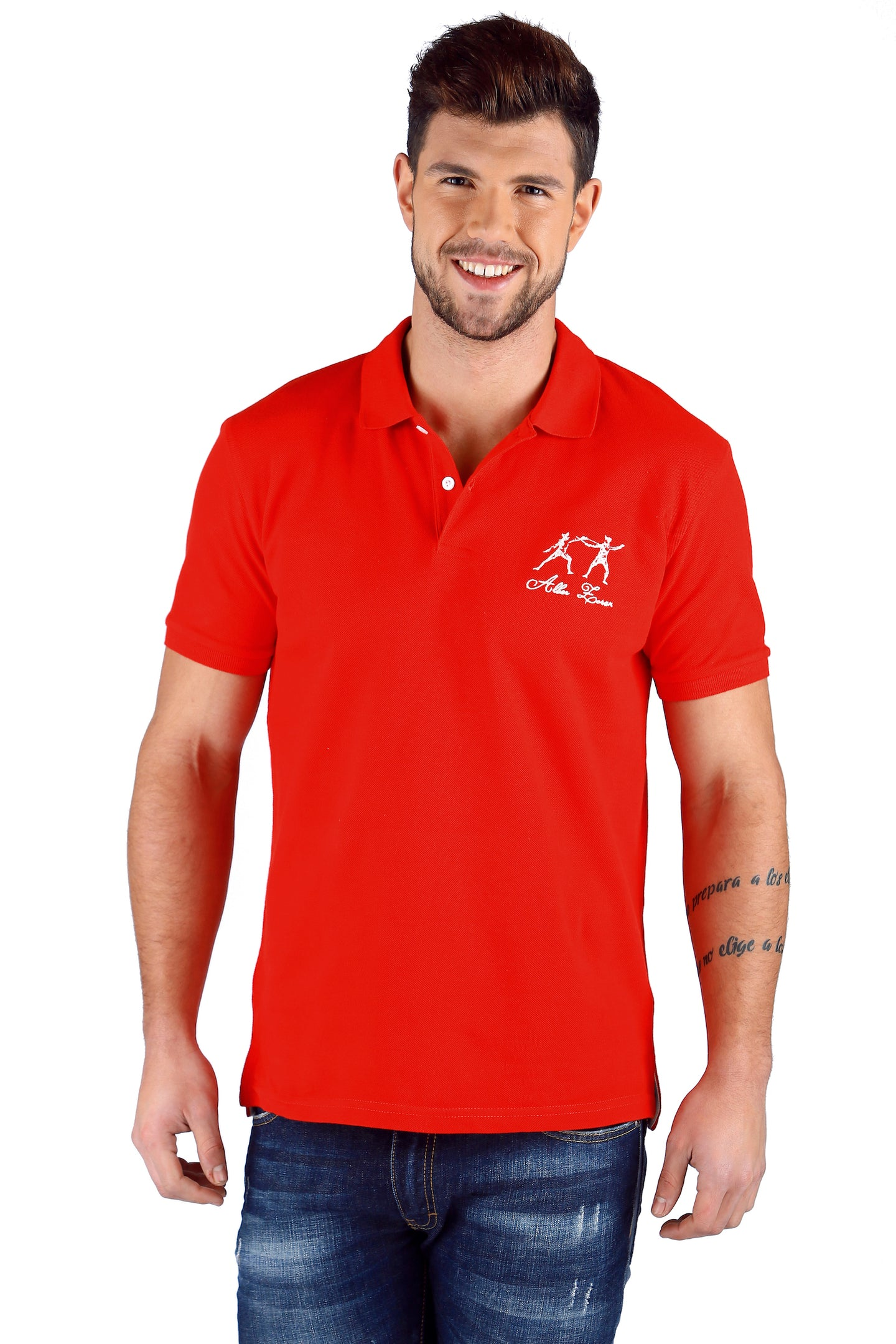 ICONIC FENCING POLO Red 2 Fencers