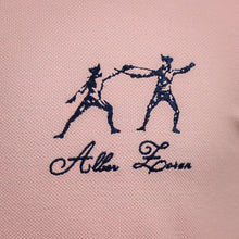 Load image into Gallery viewer, ICONIC FENCING POLO Pink 2 Fencers