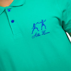 ICONIC FENCING POLO Caribbean Green 2 Fencers