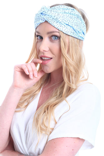 HAIR BANDANA JEWELS AQUAMARINE