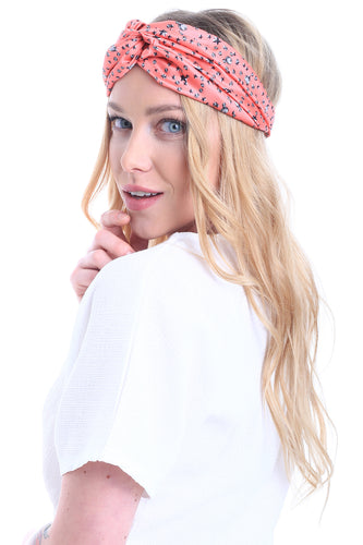 HAIR BANDANA JEWELS CORAL