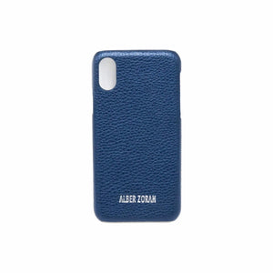 GENUINE LEATHER CELL COVER CV21_X_XS SHINY SKIN NAVY