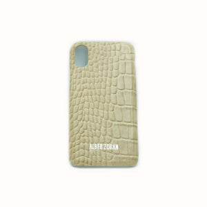 GENUINE LEATHER CELL COVER CV3_X_XS WILD SKIN BEIGE