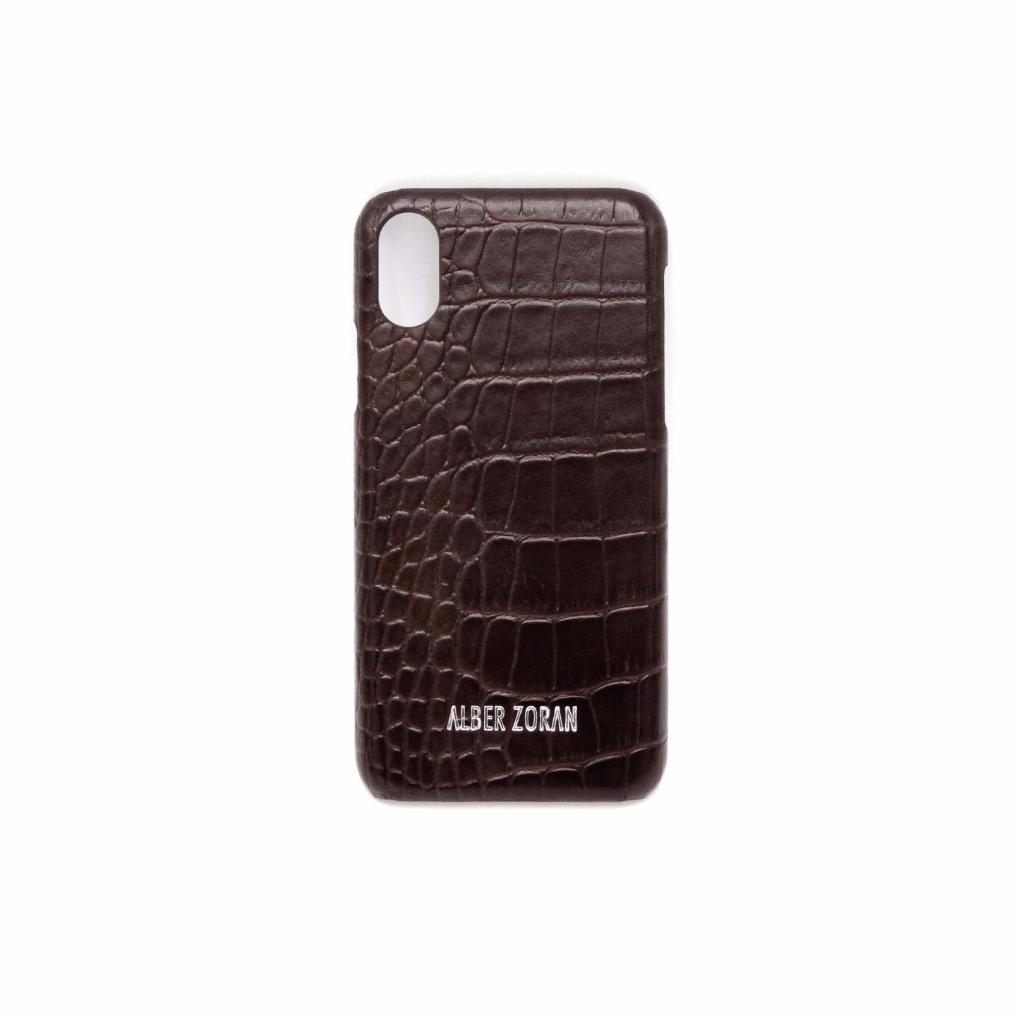 GENUINE LEATHER CELL COVER CV4_X_XS WILD SKIN BROWN