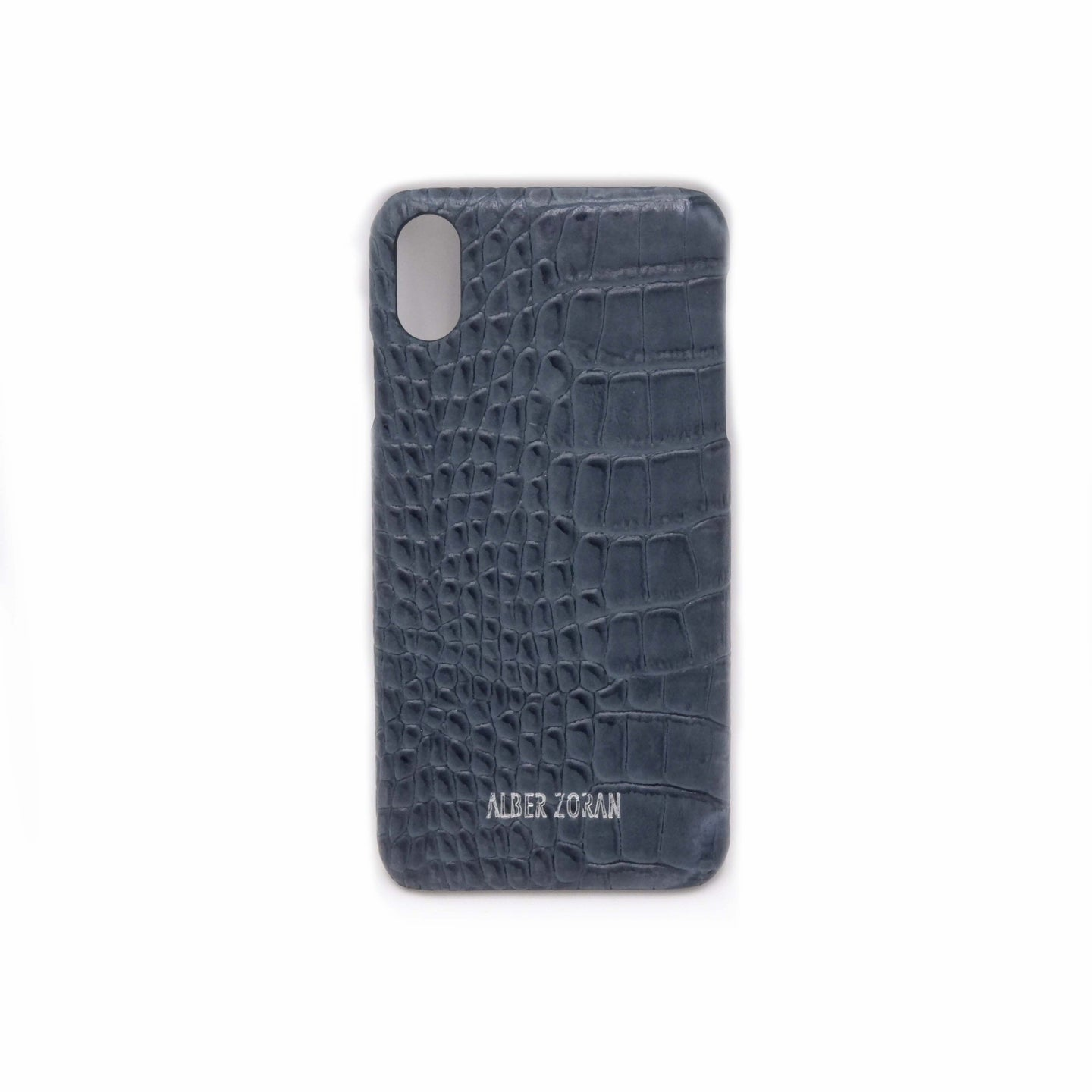 GENUINE LEATHER CELL COVER CV9_XS_MAX WILD SKIN GREY