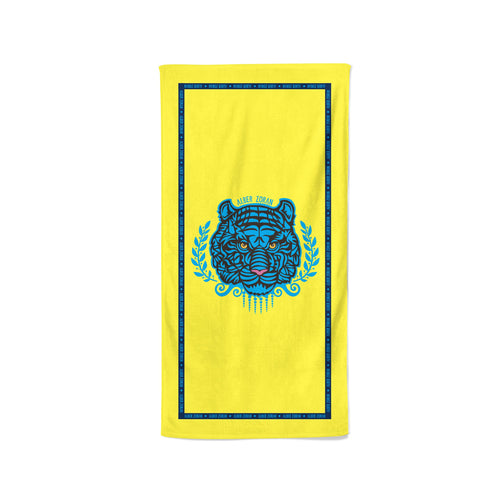BEACH TOWEL TIGER-YELLOW