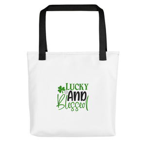 Lucky and Blessed Tote bag