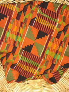 Orange Traditional Kente Mask