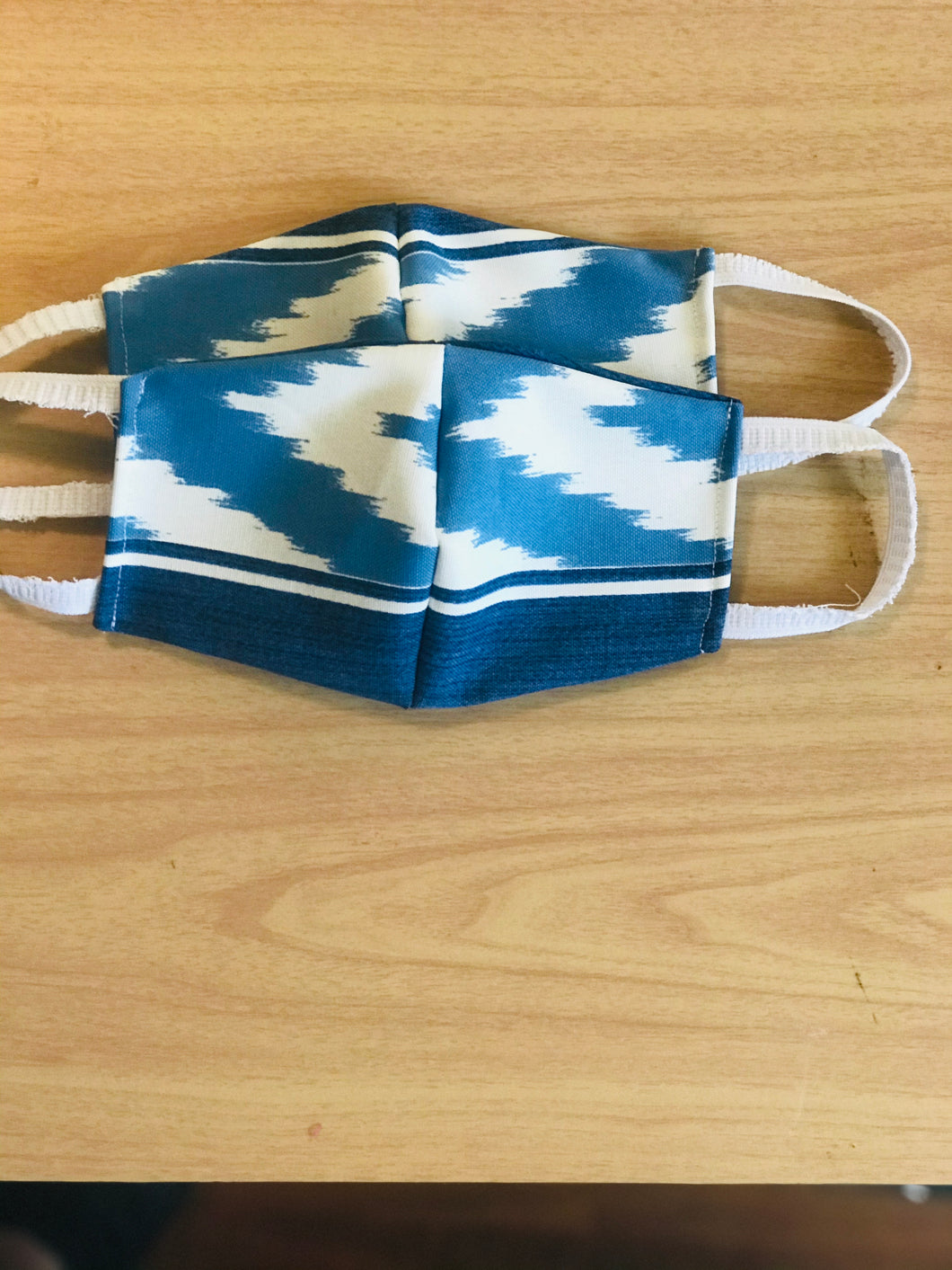 Denim Chevron Mask