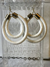 Load image into Gallery viewer, White Double Rope Earrings