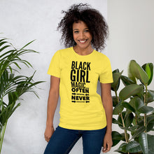 Load image into Gallery viewer, Black Girl Magic Often Imitated Never Duplicated Short-Sleeve Unisex T-Shirt Style 4