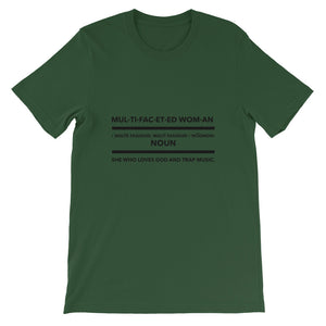 Multifaceted Woman Short-Sleeve Unisex T-Shirt