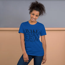 Load image into Gallery viewer, Wake Pray Sew Repeat Sewing T-shirt Short-Sleeve Unisex T-Shirt
