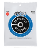 Martin MA540 SP Phosphor Bronze Light 12-54 Authentic Acoustic Guitar Strings