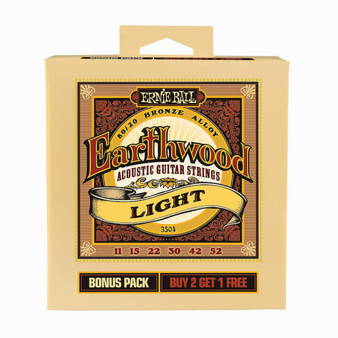 Earthwood 80/20 Bronze Alloy Light 11-52 BONUS PACK