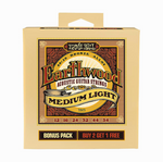 Earthwood 80/20 Bronze Alloy Medium Light 12-54 BONUS PACK