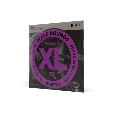D'Addario EHR320 Half Round Super Light Guage 9-42