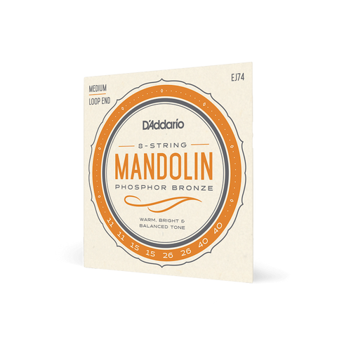 Daddario Mandolin 11-40 Medium Set EJ74 (Phosphor Bronze)