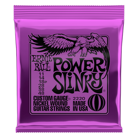POWER SLINKY NICKEL WOUND ELECTRIC GUITAR STRINGS - 11-48 GAUGE