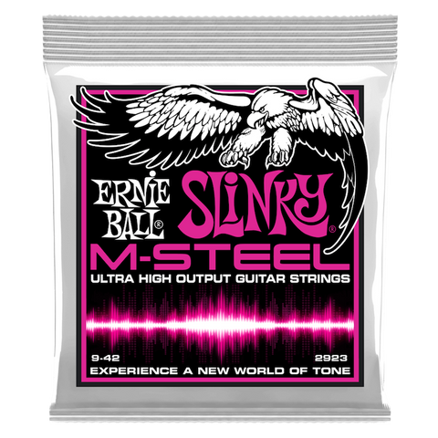 SUPER SLINKY M-STEEL ELECTRIC GUITAR STRINGS - 9-42 GAUGE