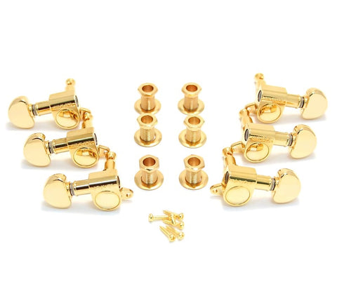 Grover Mini Romatic Tuners Gold (6)