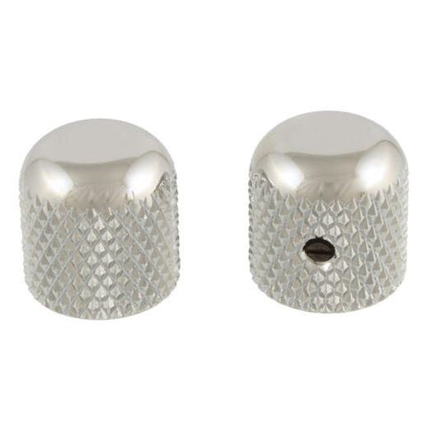 Set of 2 Nickel Dome Knobs