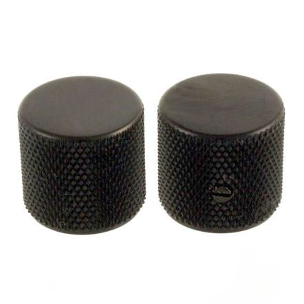 Set of two Black Barrel Knobs