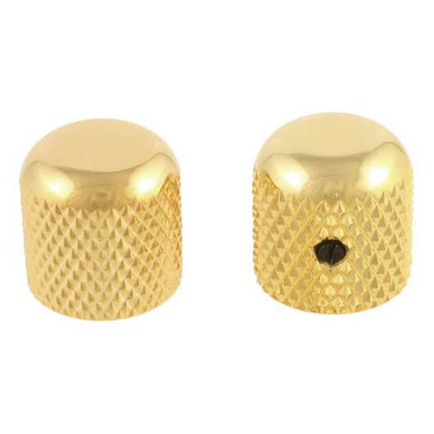 Set of 2 Gold Dome Knobs