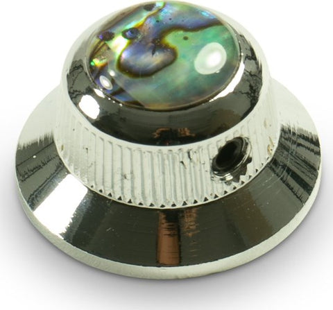 Q Parts UFO Knob Single Chrome Natural Abalone