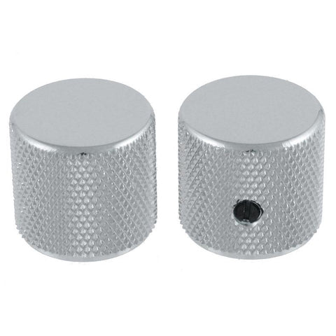 Set of 2 Nickel Barrel Knobs