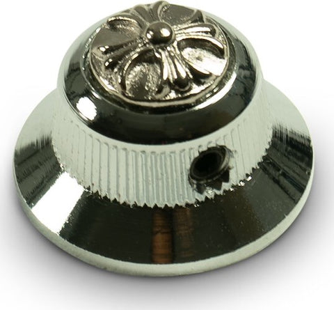 UFO Knob Single Chrome Cross