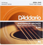 D'Addario EJ41  Extra Light 12-String Acoustic .009-.045