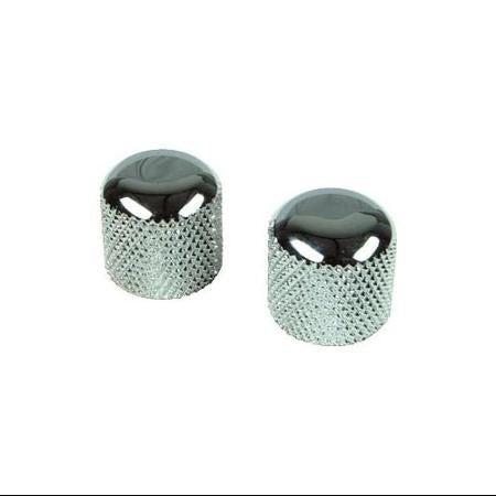 Retro Parts Knobs Metal 2 Pack Chrome Fender Style