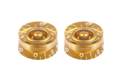 SET OF 2 VINTAGE-STYLE SPEED KNOBS gold