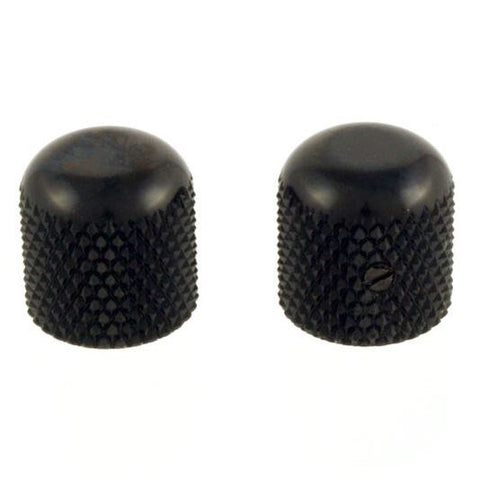 Set of 2 Black Dome Knobs