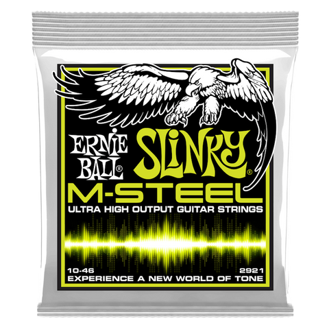 REGULAR SLINKY M-STEEL ELECTRIC GUITAR STRINGS - 10-46 GAUGE