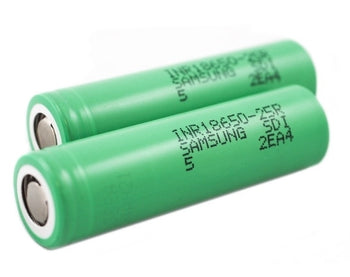 Samsung - 25R 18650 2500mAh 20A Flat Top Battery (single)