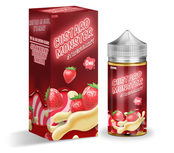 Jam Monster - Custard Monster Strawberry 100ml