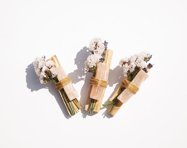 Palo Santo + Peach Selenite Bundle