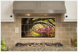 Oak Tree Azalea Pathway -  Tile Mural