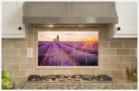 French Lavender Field - Ceramic Tile Mural