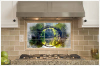 Bridge Road Watercolor Painting -  Tile Mural