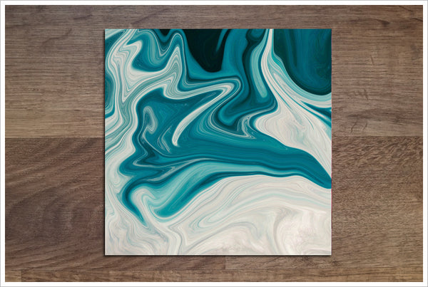 Abstract Blue Swirl - Ceramic Accent Tile