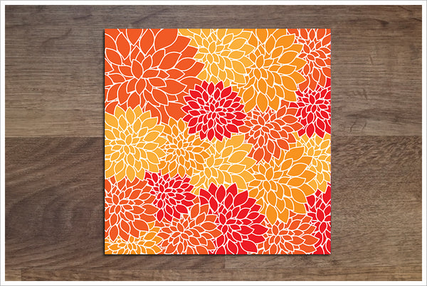 Abstract Flower Graphic -  Accent Tile