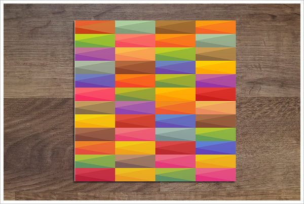 Abstract Color Rectangles -  Tile Border