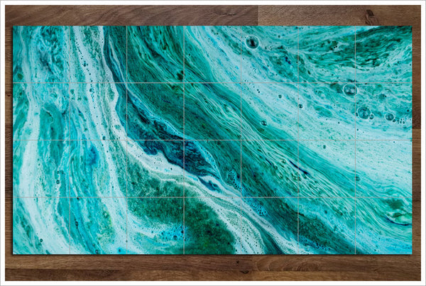 Abstract Ocean Bubbles - Ceramic Tile Mural