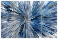 Abstract Burst Painting -  Tile Mural