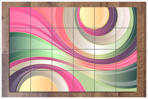Abstract Colors v2 - Ceramic Tile Mural