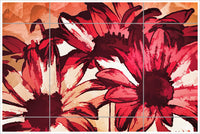Abstract Daisy -  Tile Mural