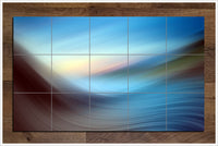 Abstract Wave -  Tile Mural